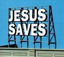 Blair-Line Laser-Cut Wood Billboards Jesus Saves HO Scale Model Railroad Roadway Accessory #1507