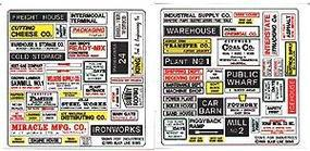 Blair-Line Advertising Signs - Industrial & Manufacturing HO Scale Model Railroad Roadway Accessory #155