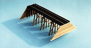 Blair Line Common Pile Trestle - Build Straight or Curved -- HO Scale Model Railroad Bridge -- #167