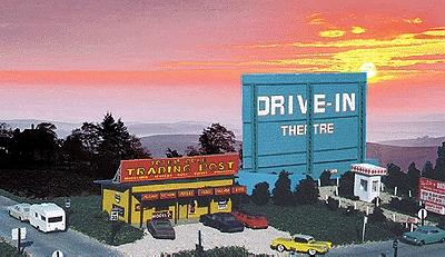 Blair Line Drive-In Theatre - Kit -- HO Scale Model Railroad Building -- #168