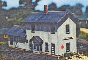 Blair-Line Blairstown 2-Story Depot Kit (7-5/8 x 2-1/4) HO Scale Model Railroad Building #178