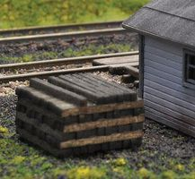 Blair-Line Pile O Ties Assembled Laser-Cut Wood Stained N Scale Model Railroad Building Accessory #1811