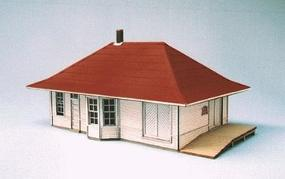 Blair-Line Leeton Depot (Laser-Cut Wood Kit) HO Scale Model Railroad Building #188