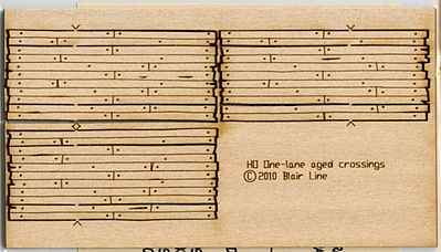 Blair Line Wood Grade Crossing Kit Rough-Cut One Lane (3) 29/32'' -- N Scale Model Railroad Accessory -- #19