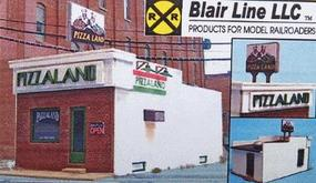Blair-Line Pizzaland Kit (2-1/4 x 4 5.7 x 10.2cm) HO Scale Model Railroad Building #196
