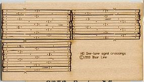 Blair-Line Wood Grade Crossing Kit Rough-Cut One Lane (3) 29/32 N Scale Model Railroad Accessory #19