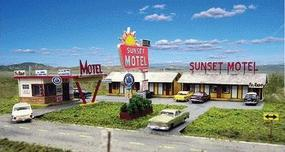 Blair-Line Sunset Motel Kit (Office and Units) HO Scale Model Railroad Building #2001