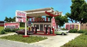 Blair-Line Hudson Oil Gas Station (Laser-Cut Wood Kit) HO Scale Model Railroad Building #2002