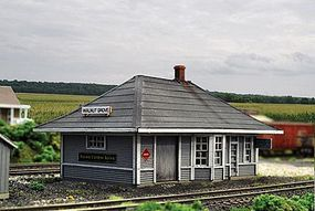 Blair-Line Walnut Grove Depot - Kit (5-1/2 x 3-5/16 14 x 8.4cm) HO Scale Model Railroad Building #2004