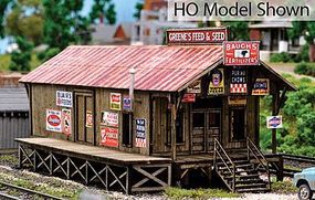 Blair-Line Greenes Feed & Seed Laser-Cut Wood Kit HO Scale Model Railroad Building #2005