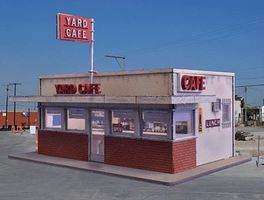 Blair-Line Yard/Highway Cafe Kit (4-3/4 x 3-1/4 12.1 x 8.3cm) HO Scale Model Railroad Building #2006