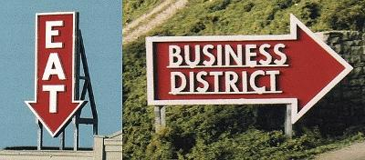 Blair-Line Eat & Business District Billboards Model Railroad Roadway Sign #2532