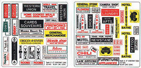 Blair-Line Main St Storefront II O Scale Model Railroad Signs #254