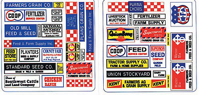 Blair Line Feed & Seed Store Signs -- O Scale Model Railroad Billboard Sign -- #257
