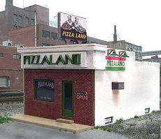 Blair-Line Pizzaland O Scale Model Railroad Building #296