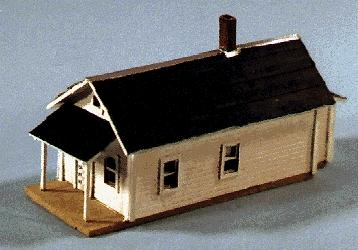 Blair Line Laser-Cut Shotgun House (3/4 x 2-1/8 1.8 x 5.3cm) -- Z Scale Model Railroad Building -- #379