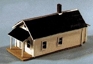 Blair Line Shotgun House - Laser-Cut Wood Kit -- N Scale Model Railroad Building -- #79