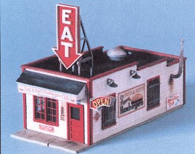 Blair Line Fred & Red's Hamburgers Kit -- N Scale Model Railroad Building -- #90