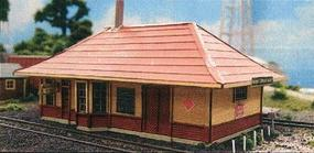 Blair-Line Gerald Depot Kit N Scale Model Railroad Building #95