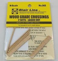 Blair-Line-Signs Wood Grade Crossing (2) N Scale Model Railroad Trackside Accessory #065