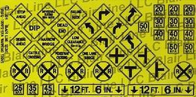 Blair-Line-Signs Warning Signs #3 HO Scale Model Railroad Billboard Sign #107