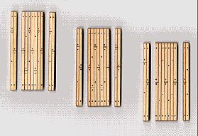 Blair-Line-Signs 1-Lane Wood Grade Crossing (3) HO Scale Model Railroad Trackside Accessory #133