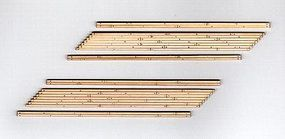 Blair-Line-Signs 2-Lane Right Angled Wood Grade Crossing HO Scale Model Railroad Trackside Accessory #134