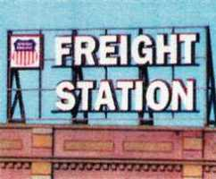Blair-Line-Signs Freight Station Billboard N Scale Model Railroad Billboard Sign #1503