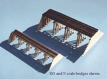 Blair Line Signs Wood Trestle Kit -- HO Scale Model Railroad Bridge -- #167