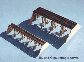 Blair-Line-Signs Wood Trestle Kit HO Scale Model Railroad Bridge #167