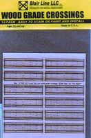 Blair-Line-Signs 2-Lane Wood Grade Crossing (12) N Scale Model Railroad Trackside Accessory #18