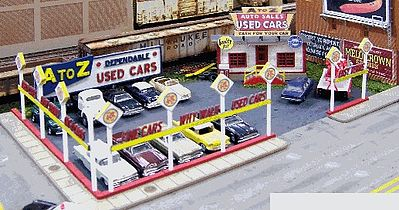 Blair-Line-Signs A-to-Z Used Cars Building Kit HO Scale Model Railroad Building #197