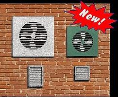 Blair-Line-Signs Wall Fans (6) & Vents (15) HO Scale Model Railroad Building Accessory #2707