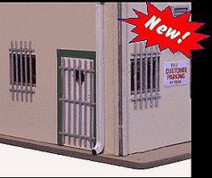 Blair-Line-Signs Door & Window Burglar Bars (24ea) HO Scale Model Railroad Building Accessory #2708