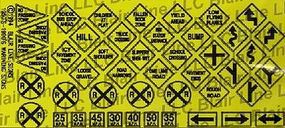 Blair-Line-Signs Warning Signs #2 N Scale Model Railroad Billboard Sign #6
