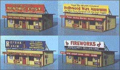 Blair-Line-Signs Roadside Tourist Trap Building Kit N Scale Model Railroad Building #70