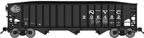 Bluford 70-Ton 3-Bay 14-Panel Hopper w/Load - Ready to Run New York Central (black, System Logo) - N-Scale