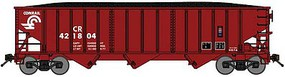 Bluford 70-Ton 3-Bay 14-Panel Hopper w/Load 3-Pack Ready to Run Conrail (Boxcar Red) N-Scale
