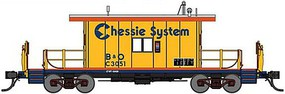 Bluford Steel Transfer Caboose w/Long Roof Ready to Run Chessie System B&O C3051 (yellow, silver, blue, orange) N-Scale