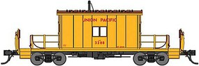 Bluford Steel Transfer Caboose w/Short Roof - Ready to Run Union Pacific 3288 (Armour Yellow, red) - N-Scale