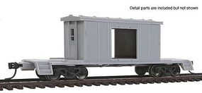 Bluford Short-Body Bay Window Caboose Undecorated HO Scale Model Train Freight Car #31000