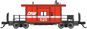 Short Body Bay Window Caboose - Ready to Run Toledo, Peoria & Western 525 (red, white)