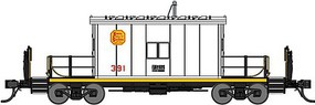 Bluford Transfer Caboose - Ready to Run Kansas City Southern #397 (white, yellow)
