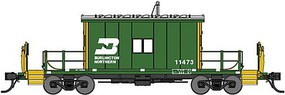 Bluford Steel Transfer Caboose w/Short Roof - Ready to Run Burlington Northern 11473 (Cascade Green, yellow, white)
