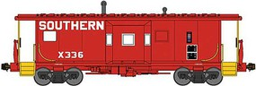 Bluford International Car Bay Window Caboose Phase 1 - Ready to Run Southern Railway X336 (1969 Road Service, red, yellow) - N-Scale