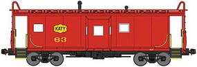 Bluford International Car Bay Window Caboose Phase 2 - Ready to Run Missouri-Kansas-Texas 63 (red, yellow Katy Logo) - N-Scale