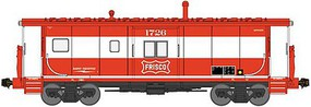 Bluford International Car Bay Window Caboose Phase 4 - Ready to Run St. Louis-San Francisco 1726 (mandarin, white, Frisco Coonskin Logo) - N-Scale