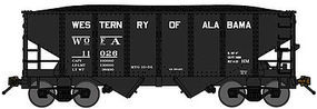 Bluford USRA 306 2-Bay Hopper Western Railway of Alabama N Scale Model Train Freight Car #60342