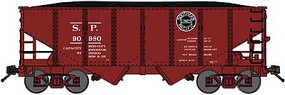 Bluford USRA 306 2-Bay Hopper with Load - Ready to Run Southern Pacific (Boxcar Red, black, Lines Logo) - N-Scale