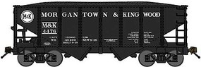 Bluford USRA 306 2-Bay Hopper with Load 2-Pack - Ready to Run Morgantown & Kingwood (black, white) - N-Scale